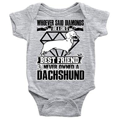 858de1d0a A Dachshund Baby Bodysuit, A Girl's Best Friend T Shirt (NB, Baby Bodysuit