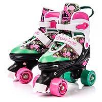 Meteor Pattini da discoteca Pattini da skate roller in Parallel 4 ruote Pattini da pattinaggio in quad per bambini Adolescenti e adulti Taglia regolabile