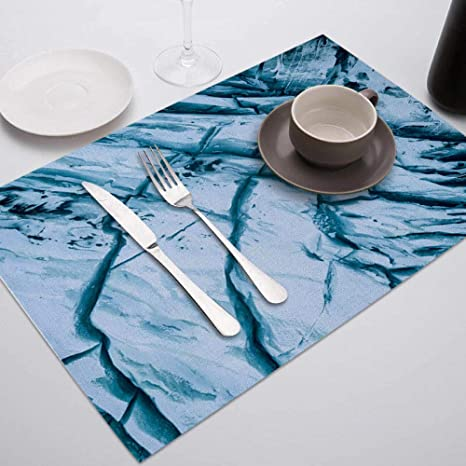 Placemat 1pc Marble Printed Placemat For Dining Table Tableware Durable Dinner Table Mats Drink Coasters Cup Mat Table Decoration Accessories Home Kitchen
