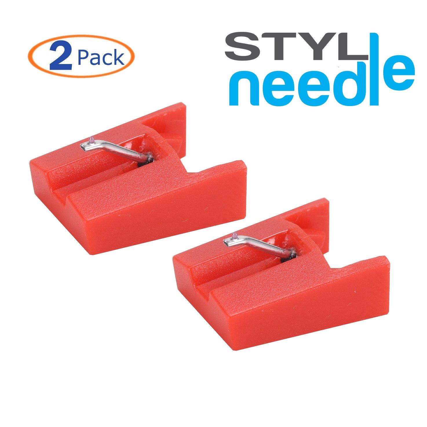 Stylineedle Aguja de repuesto con punta de diamante para tocadiscos – Paquete de 2 – Para for ION ICT04RS y Crosley NP4 SN02MND
