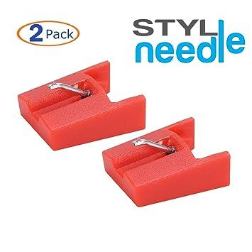 Stylineedle Aguja de repuesto con punta de diamante para tocadiscos – Paquete de 2 – Para for ION ICT04RS y Crosley NP4