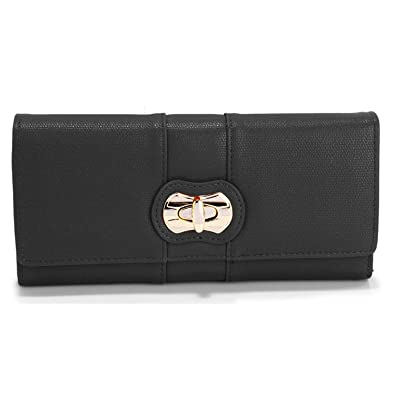 b81b70e9457a9 Xardi London New Faux Leather Twist Lock Women Purse Designer Ladies Girl  Wallet Gift  Amazon.co.uk  Shoes   Bags