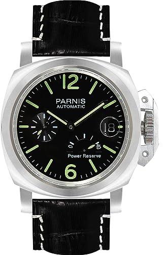 PARNIS 9062 deportivo de hombre de pulsera de reloj 44 mm 5bar Agua Densidad Reloj Automático