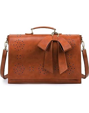 d9f5f09d8da59 ECOSUSI Vintage Damen Schultasche Arbeitstasche Aktentasche Laptoptasche 14