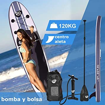 COSTWAY Tablas Paddle Hinchables Remo Surf Board Tablero Sup Stand Up Board Set 305 x 76 x 15cm Inflable Blanco: Amazon.es: Deportes y aire libre
