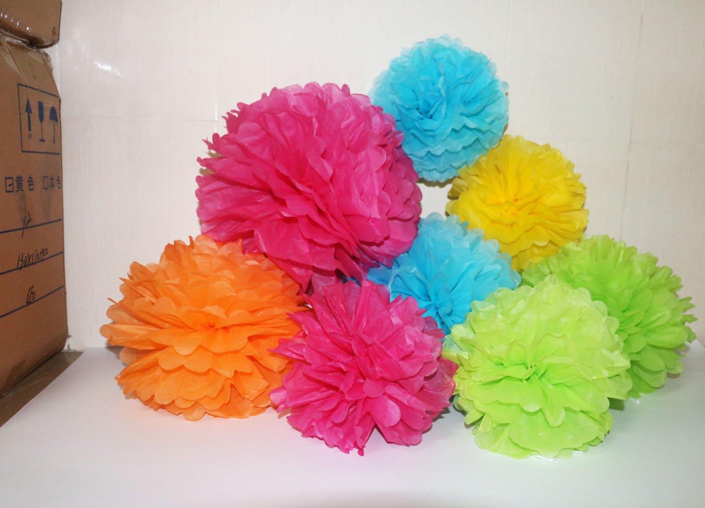 Amazon Sookoo 15 Pcs Paper Pom Poms In 14 Inch 12 Inch 10