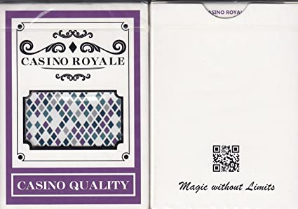 Royal pinochle playing cards plastic coated poker size