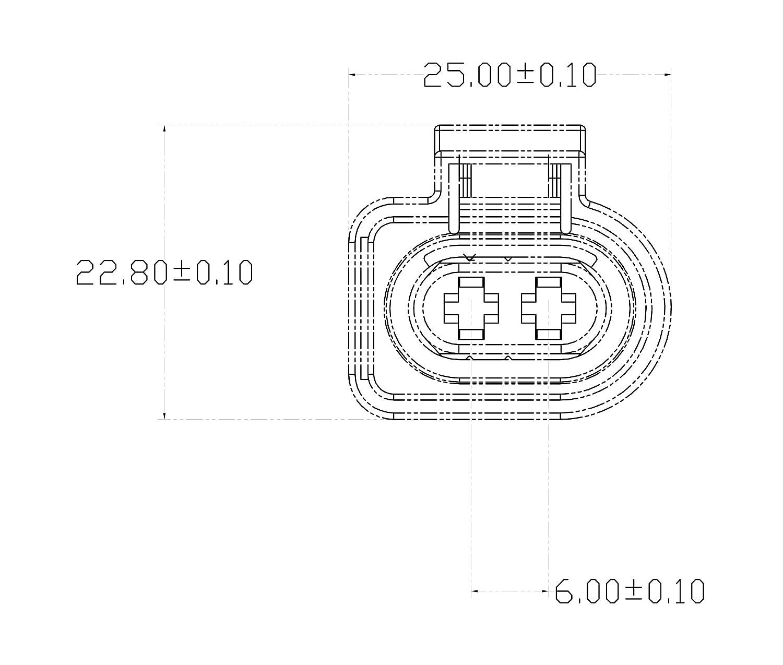 Coche para conector - Amp Tyco VAG de 2 pin (Female) 1j0973722, 1J0 973 722 Parasol Posición Leuchten Compresor Aire Acondicionado Bomba limpiaparabrisas ...