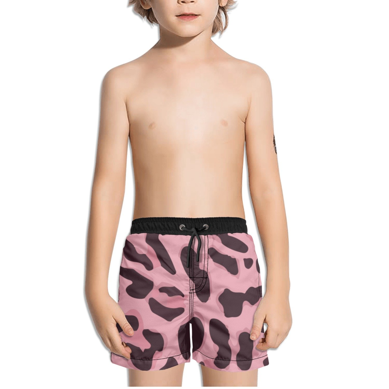Ouxioaz Boys Swim Trunk Animal Print Pink Beach Board Shorts