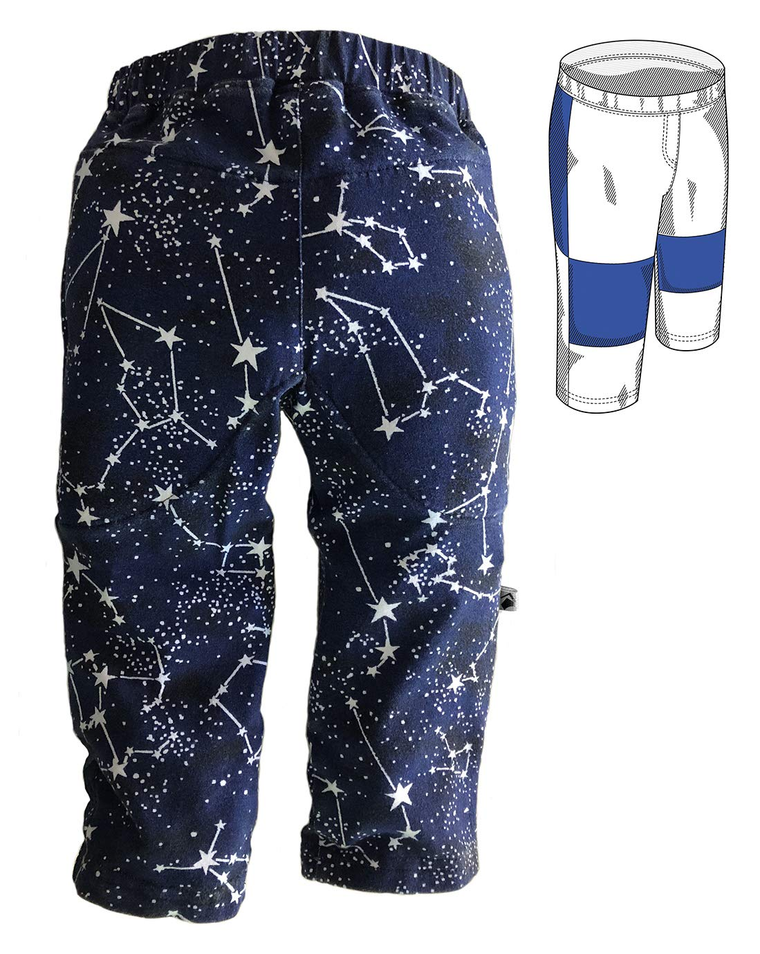 Rough House Kids Padded Pants - Super Star - 06 Months by Rough House Kids (Image #3)