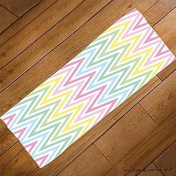 vroselv Custom toalla suave y cómodo playa towel-chevron Pastel colorido primavera rosa azul amarillo verde ...