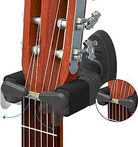 Guitar Wall Mount Hanger, Auto Lock Design,: Amazon.es ...