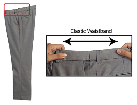 Amazon.com: Gioberti - Pantalones de vestir con cintura ...
