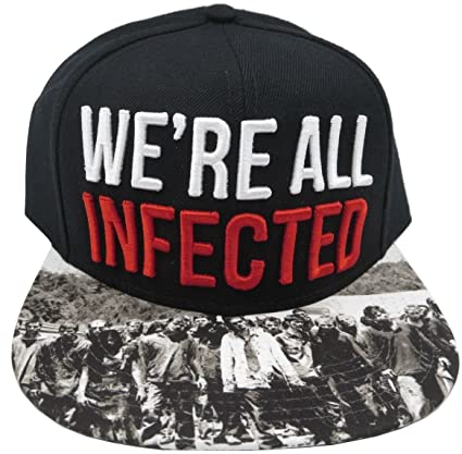 bad18a243c7 Amazon.com  The Walking Dead AMC We re All Infected Black Snapback ...