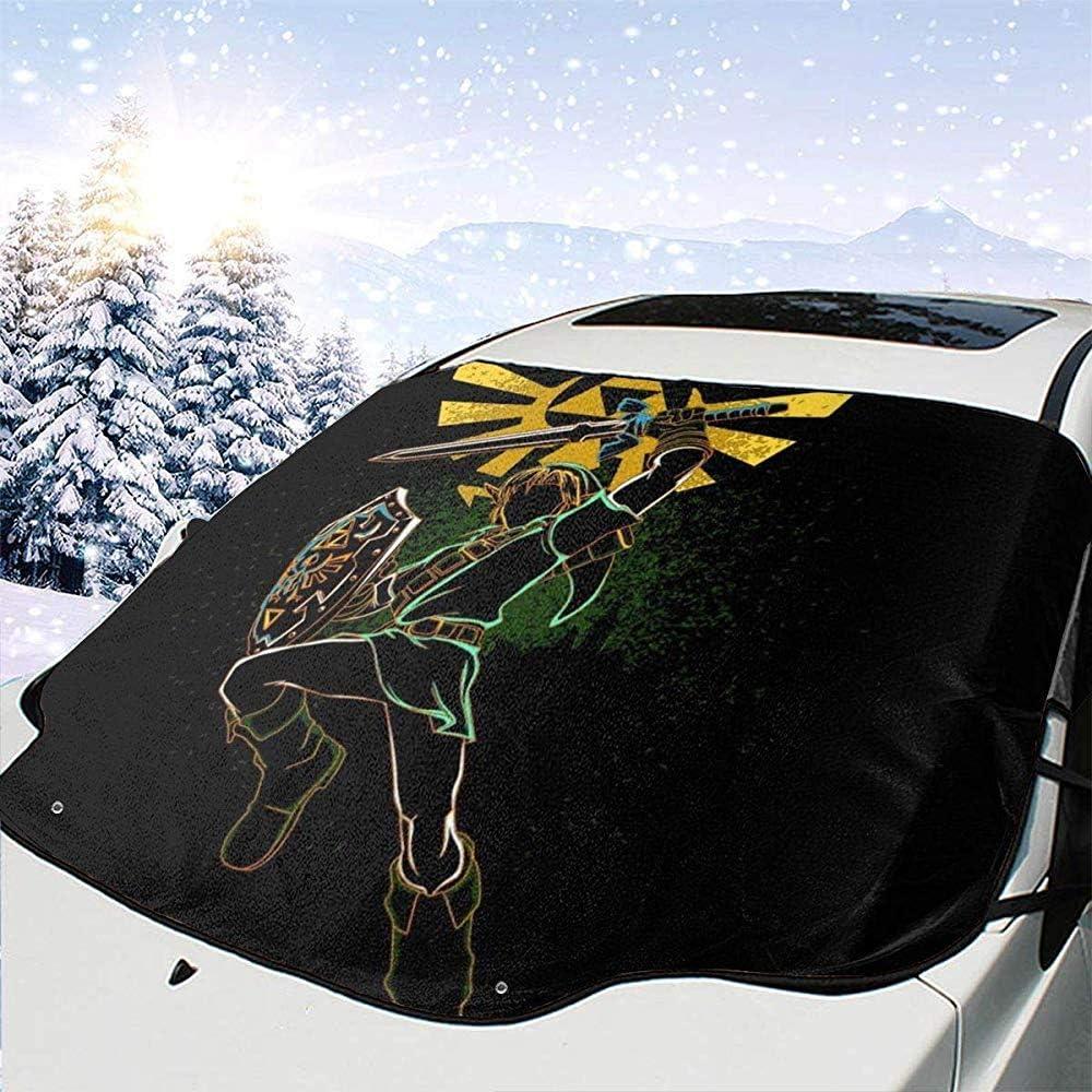 Universal Fit Sonnenblende zum Entfernen von EIS MaMartha Car Windshield Snow Cover Shadow of Courage Legend of Zelda Schneedecke f/ür Windschutzscheibe