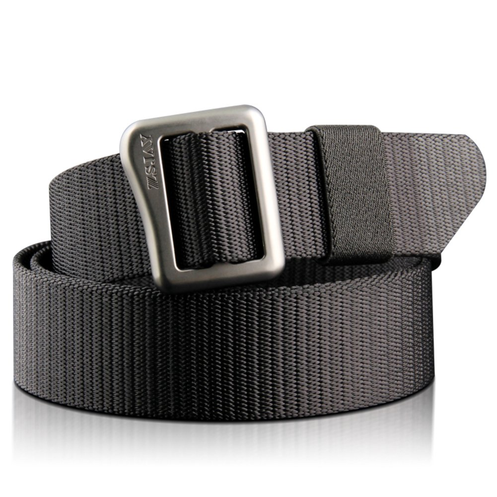 JIEJING Men's Canvas Belt,Leisure Decoration Automatic buckle Belt Youth Student Belt-black 105cm(41inch)