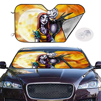 Jack Skellington 2pcs The Nightmare Before Christmas For Jack Skellington Car Door Led Welcome Laser Projector Car Door Courtesy Light Suitable Fit for all brands of cars