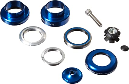 Promax PI-2 Steel Sealed Bearing 1-1//8 Press in Headset Blue