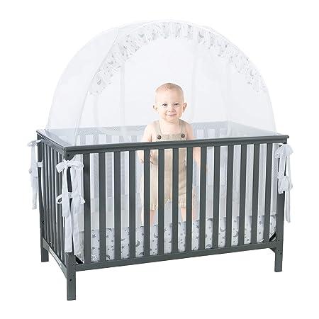 Carpa de seguridad para cuna de bebé con cubierta de red ...