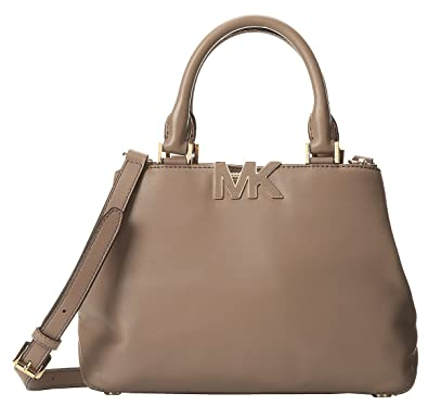 fa595695c4b Amazon.com: Michael Kors Florence Small Satchel in Dark Dune: Shoes