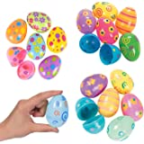 36-Count Plastic Easter Eggs, Assorted Prints and Colors