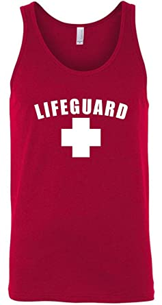 1df359d118bfc Image Unavailable. Image not available for. Color  Lifeguard Tank Top Shirt  - Men s and Women s (Medium ...