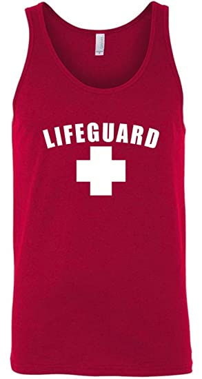 cfef2dc546099 Image Unavailable. Image not available for. Color  My Favorite Gear  Lifeguard Tank Top Shirt - Men s and ...