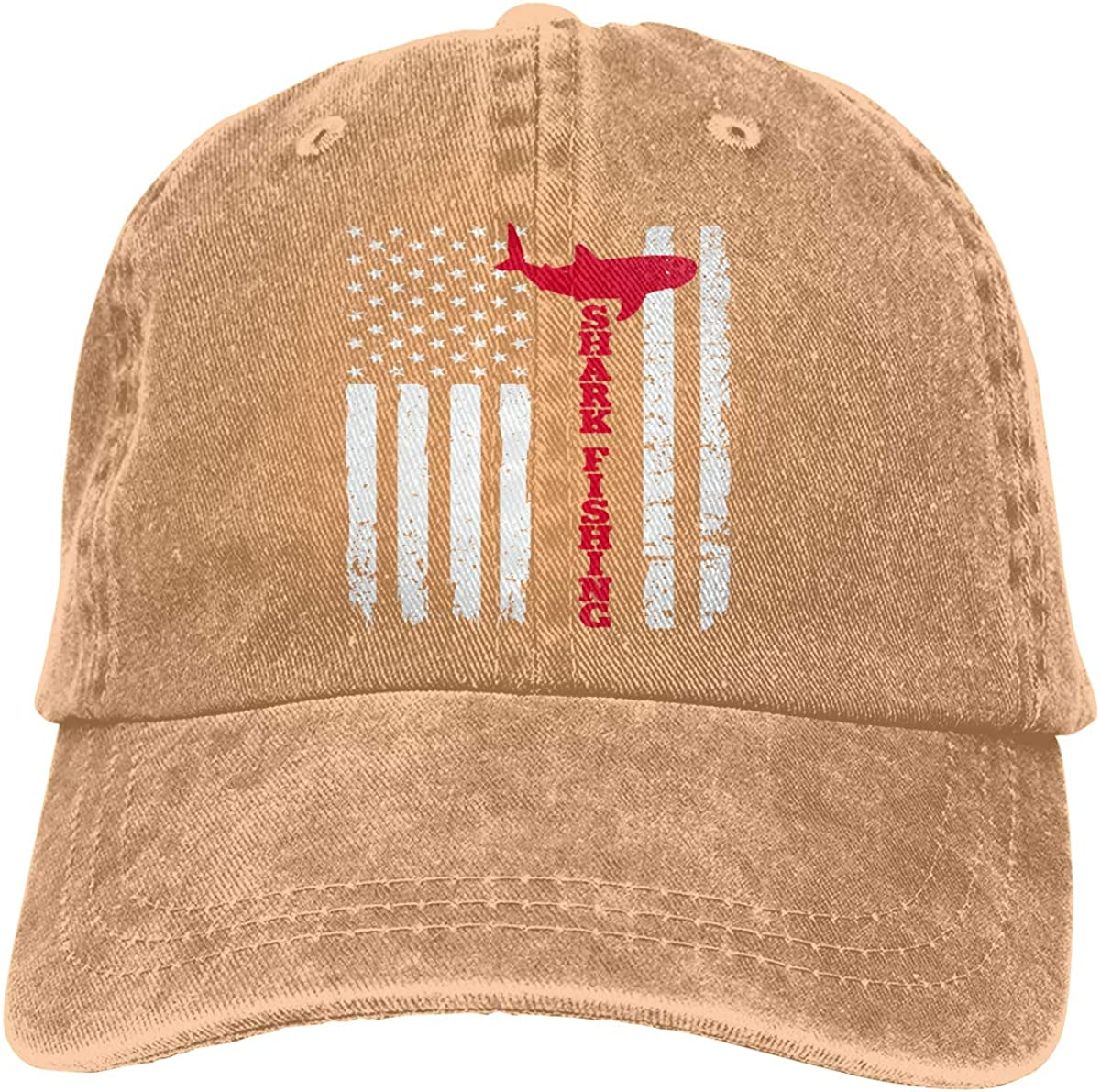 PMGM-C American Flag Hunt Fish Unisex Personalize Cowboy Hip Hop Cap Adjustable Baseball Cap