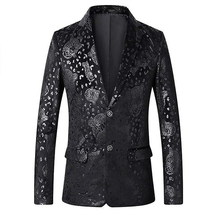 good quality marketable biggest selection Men's Blazer Slim Fit Casual Luxury Design Floral Sport ...