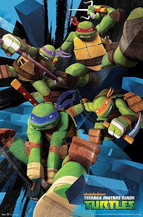 Amazon.com: Teenage Mutant Ninja Turtles - Attack Poster ...