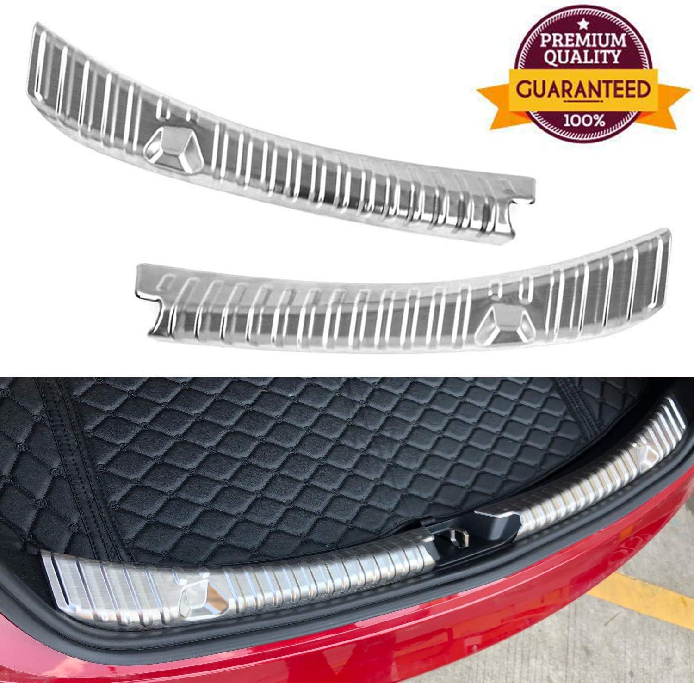 Topfit Tesla Model 3 Bumper Protector Rear Trunk Bumper Guard Stainless Steel Black Titanium 2pcs