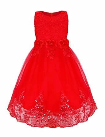 Kleid rot 128