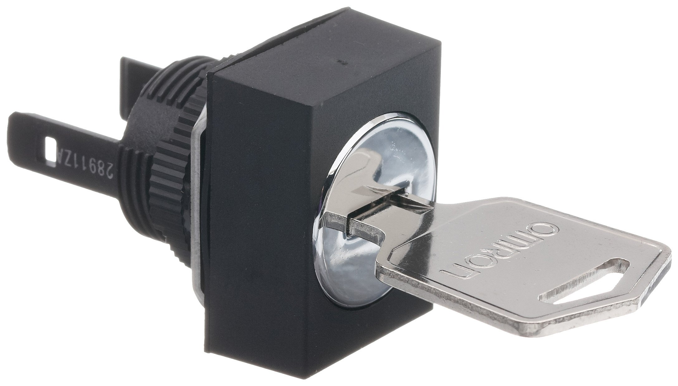 Omron A165K-J3M Key Type Selector, IP65 Oil-Resistant, 3 Notches, Manual Reset Method, Left Right and Center Key Release Postion, Rectangular