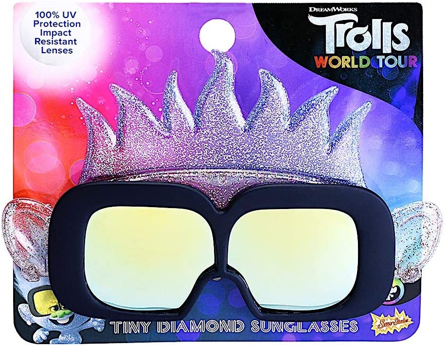 Sun-Staches Trolls World Tour Multi One Size Tiny Diamond Lil Characters Child Shades Costume Party Favor UV400