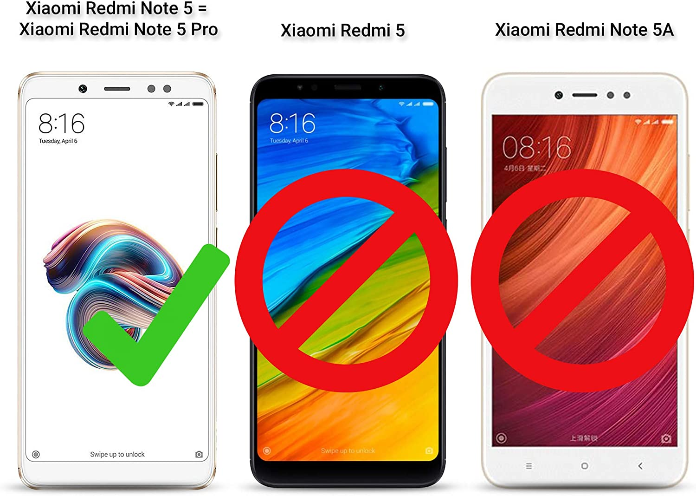 Moozy Funda 360 Grados para Xiaomi Redmi Note 5, Redmi Note 5 Pro ...