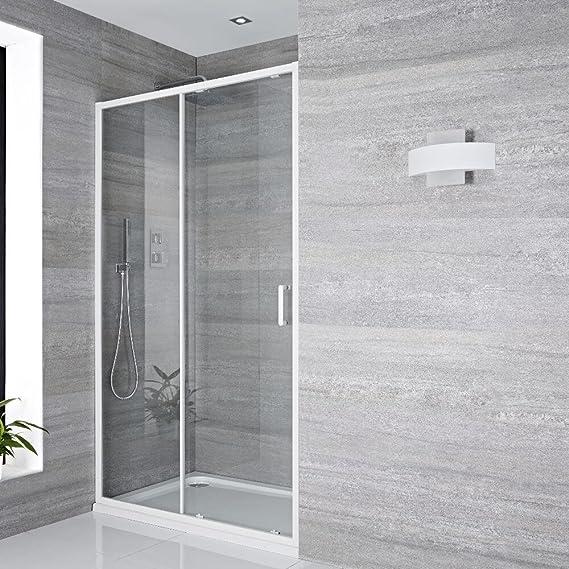 Hudson Reed Lux Puerta Ducha Deslizante con Perfil Blanco – 1000 X ...