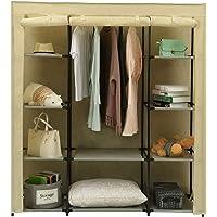 "Homebi Portable Closet Wardrobe Clothes Closet Storage System Non-Woven Fabric Clothes Rack Cloth Storage Organizer with Shelves,59.05"" W x17.72 D x 65.4"" H"