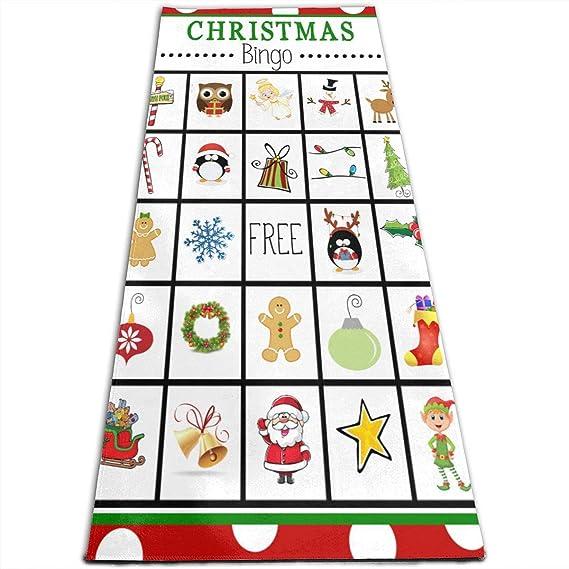 Amazon.com: Alfombrilla de yoga de Navidad con tarjetas de ...
