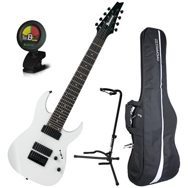 ibanez rg8 8 string electric guitar white w gig bag