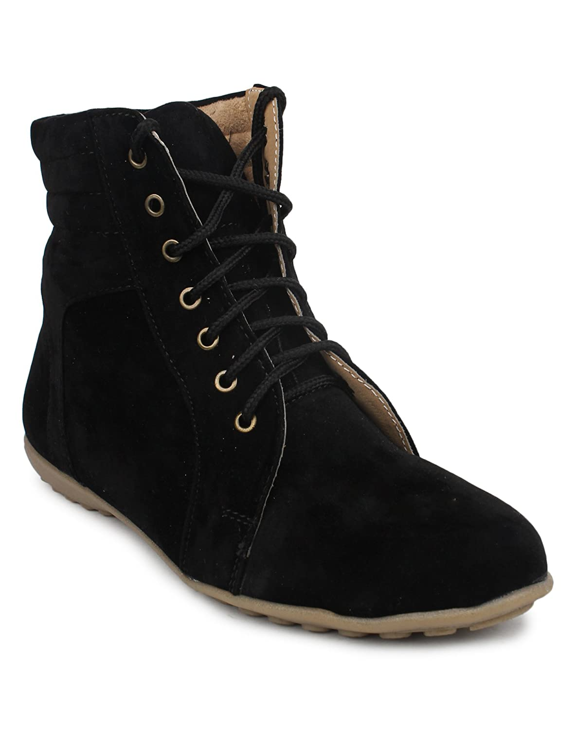 ca97c8fdd6958 BEONZA Women s Black Suede Boots-36-BZRSML002-1008-BL 6  Buy Online at Low  Prices in India - Amazon.in