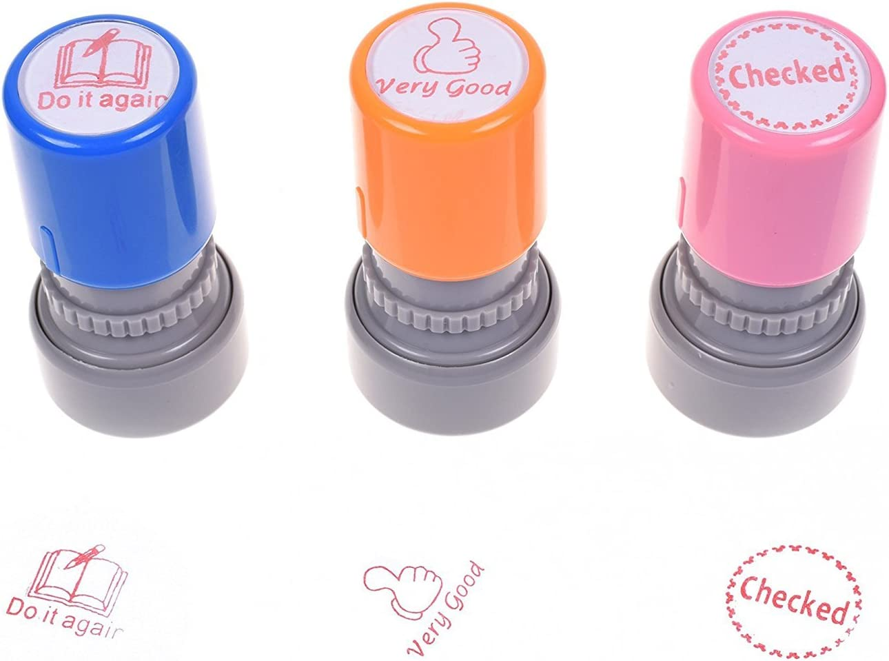 Stonges 3 Pack Self Inking Stampers Funny Plastic Pre Inked ...