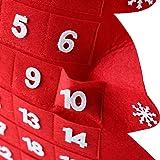 Yunzee Christmas Hanging Advent Calendar