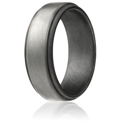 Amazoncom ROQ Silicone Wedding Ring for Men 4 Packs Singles