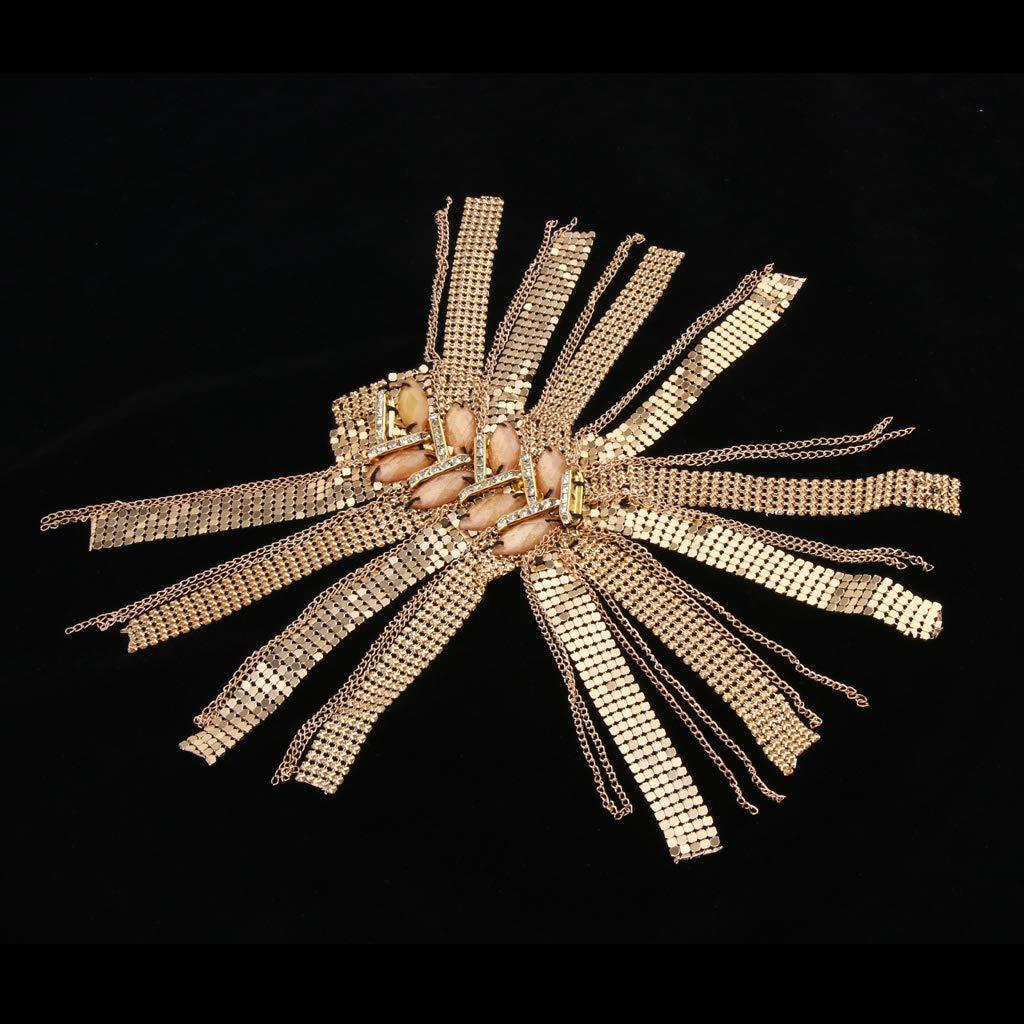 Baoblaze Charretera de Hombros con Remache Borlas Decoraci/ón para Traje de Hombres