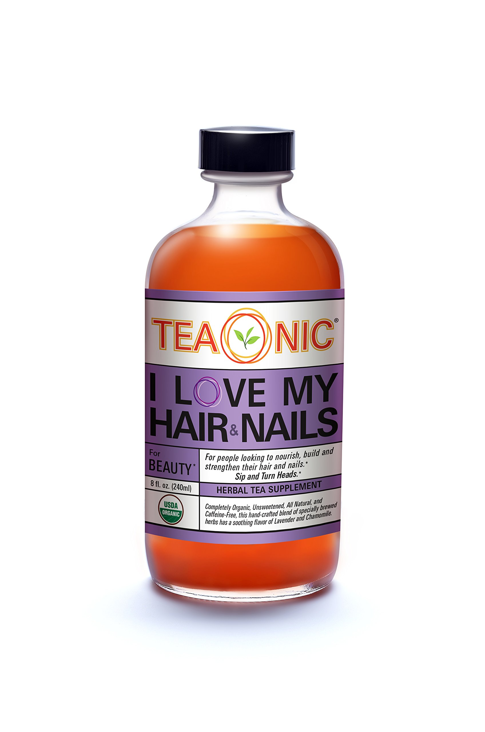 Teaonic Herbal Tea I Love My Hair & Nails for Beauty   Chamomile & Lavender (12 Pack)