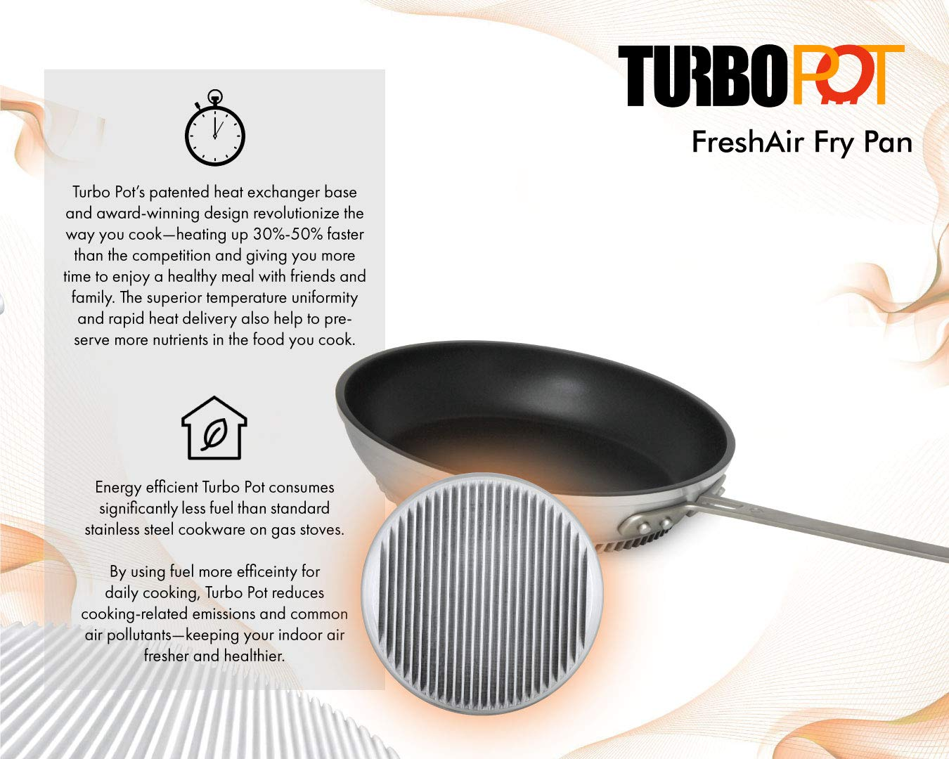 Amazon.com: FlamePro Professional 10-inch Aluminum Nonstick Fry Pan/Skillet by Turbo Pot, Energy-Efficient Cookware for Gas Stove, Commercial Grade: Kitchen ...