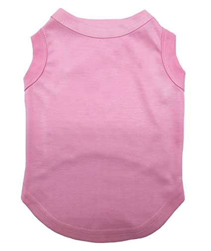 ee77547b8a21 Petitebella Puppy Clothes Dog Dress Plain Pink Sleeveless Cotton Tee T Shirt  (Large)