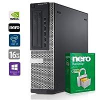 PC Gamer Multimédia Unité Centrale Dell 7010 DT - Core i7-3770 @ 3,4 GHz - 16Go RAM - 1000Go HDD - 240Go SSD - Nvidia GTX 1050 - Graveur DVD - Win10 Pro 64 Bits (Reconditionné Certifié)