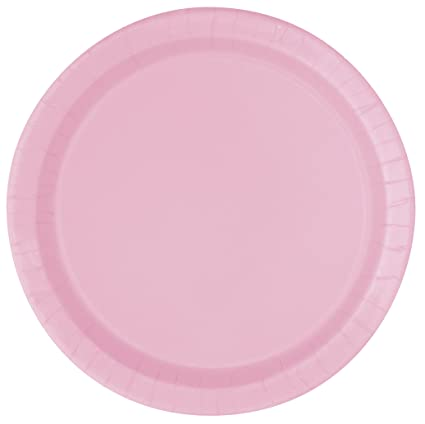 Light Pink Paper Cake Plates 20ct  sc 1 st  Amazon.com & Amazon.com: Light Pink Paper Cake Plates 20ct: Kitchen \u0026 Dining