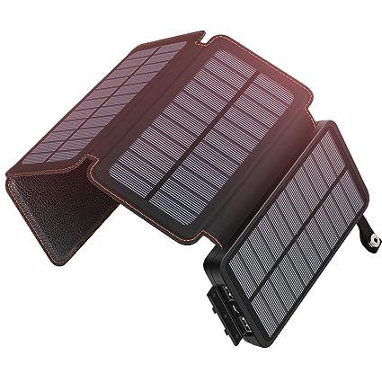 Amazon.com: ADDTOP Cargador Solar 24000mAh Portátil Solar ...